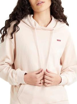 Sweatshirt Levis Basic Hood Pink for Woman
