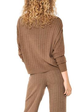 Sweater Only Tessa Textured Beige for Woman