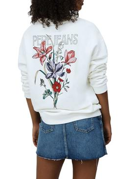 Sweatshirt Pepe Jeans Becky White for Woman