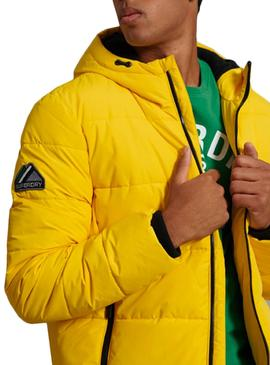 Jacket Superdry Padding Sports Yellow Man