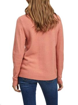 Sweater Vila Viril Coral for Woman