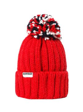 Napapijri Hat Semiury Red for Boy and Girl