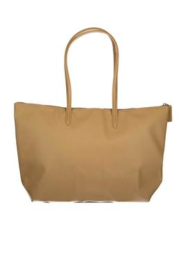 Handbag Lacoste Shopping Bag Beige for Woman