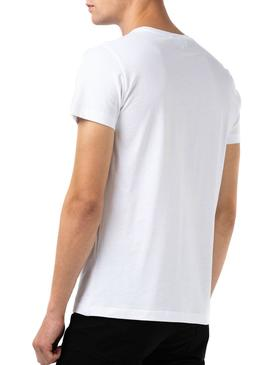 T-Shirt Lacoste Italic White for Man