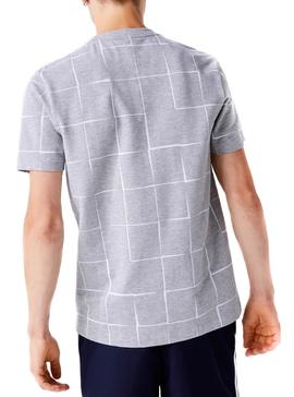 T-Shirt Lacoste Sport Grafic Gray for Man