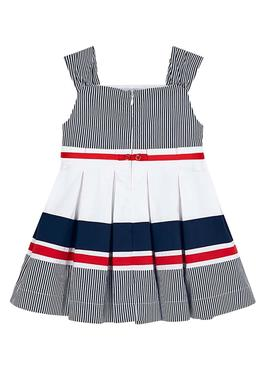 Dress Mayoral Stripes Blu Navy for Girl