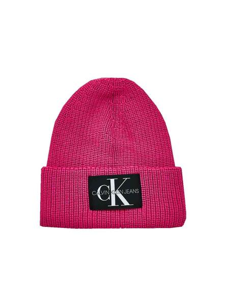 Hat Knitted Calvin Klein Pink Mohair for Woman