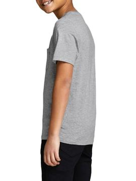 T-Shirt Jack and Jones Pocket Gray Boy