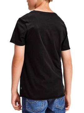 T-Shirt Jack and Jones Ebas Black Boy