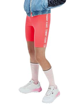 Short Tommy Jeans Fitted Bike Pink for Woman