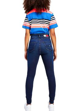 T-Shirt Tommy Jeans Boxy Crop Blue for Woman