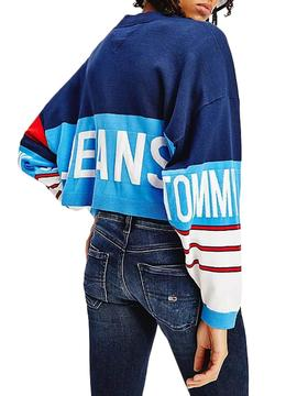 Jacket Tommy Jeans Cardigan Navy Blue for Woman