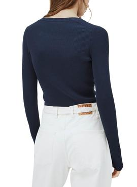 Sweater Pepe Jeans Claire Navy Blue for Woman