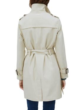 Trench Pepe Jeans Tania Beige for Woman