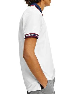 Polo Tommy Jeans Detail White for Man