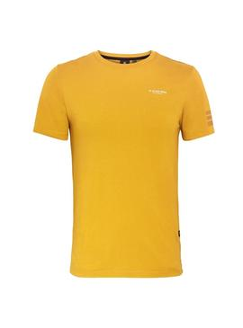 T-Shirt G Star Text Yellow for Man