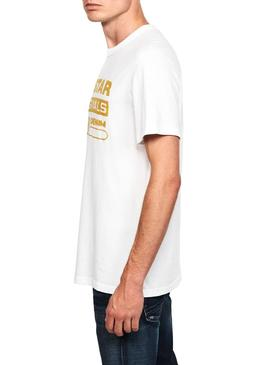T-Shirt G-Star Raw Wavy White for Man