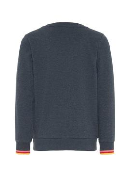 Sweatshirt Name It Moshila Blu Navy Girl