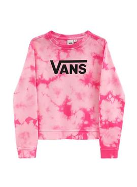 Sweatshirt Vans Hypno Crew Pink for Girl