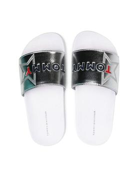Flip flops Mayoral Logo Print Slider White Girl