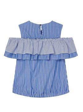 Blouse Mayoral Hombros Blue Girl