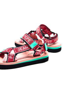 Flip flops Pepe Jeans Pool Tape Red for Girl