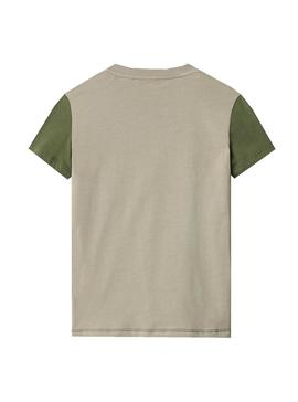 T-Shirt Napapijri Sauck Green for Boy