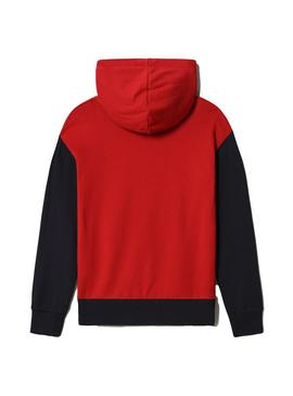 Sweatshirt Napapijri Bauck Blue Red for Boy