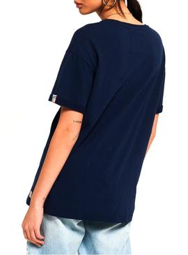 T-Shirt Superdry Paulo Blu Navy Woman